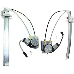Power Window Regulator For 2002 2006 Jeep Liberty Set Of 2 Rear With Motor