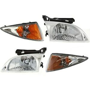 00 02 Cavalier Headlights Headlamps Corner Parking Lights Left Right Set Kit