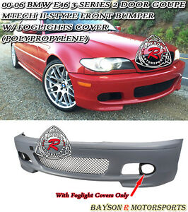 M tech Ii Style Front Bumper Fits 00 06 Bmw E46 3 series Coupe