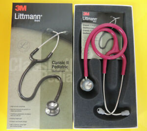 2122 3m Littmann Classic Ii Pediatric Stethoscope Raspberry Nib