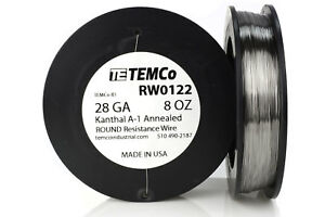 Temco Kanthal A1 Wire 28 Gauge 8 Oz 1304 Ft Resistance Awg A 1 Ga