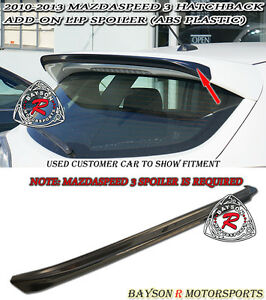 Ms Style Add On Roof Spoiler Wing Abs Fits 10 13 Mazda 3 Hatch 5dr