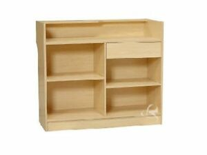Register Maple Stand Display Case Store Fixture Wood Knocked Down ltc4m