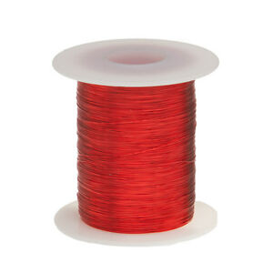 32 Awg Gauge Enameled Copper Magnet Wire 4 Oz 1251 Length 0 0087 155c Red