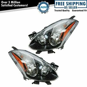 Halogen Headlight Headlamp Pair Set Of 2 For 10 13 Nissan Altima Coupe