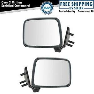 Black Manual Side View Mirror Left Right Pair Set For Pathfinder D21 Truck