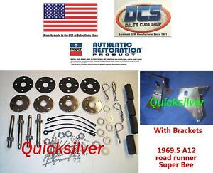 1969 1 2 Dodge Coronet Super Bee A12 440 Six Pack Hood Pin Kit With Brackets Usa