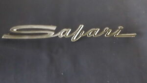 Pontiac Safari Emblem Badge Script Trim Vintage Metal Gm
