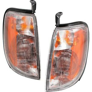 Corner Light For 98 2000 Nissan Frontier Set Of 2 Lh Rh Incandescent W Bulbs