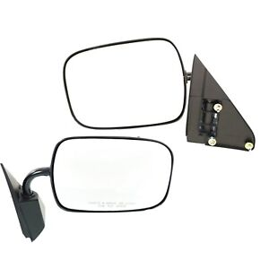 Manual Side View Mirrors Pair For Chevy Suburban Blazer Gmc Yukon Pickup Truck