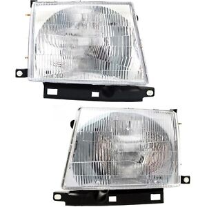 Headlight Set For 97 2000 Toyota Tacoma Left And Right With Bulb 2pc