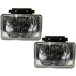 Set Of 2 Clear Lens Fog Light For 2004 12 Chevy Colorado Lh Rh Capa W Bulbs