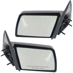 Manual Side Mirrors Pair Set Left Lh Right Rh For Gmc Chevy Pickup Truck
