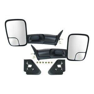 Left Right 1994 2001 For Dodge Ram 1500 94 02 2500 Tow Flip Up Manual Mirrors