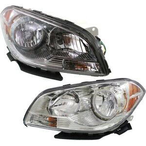 Headlight Set For 2008 2012 Chevrolet Malibu Left And Right With Bulb 2pc