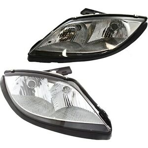 Headlight Set For 2003 2005 Pontiac Sunfire Driver Passenger Side W Bulb New