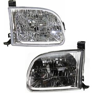 Headlight Set For 2000 2004 Toyota Tundra Left And Right With Bulb 2pc