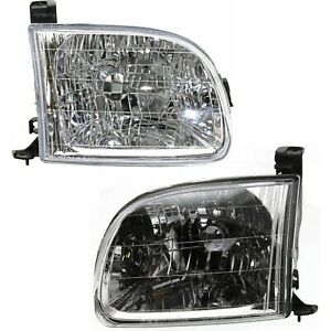 Headlight Set Left And Right For 2000 2004 Toyota Tundra Regular Cab Access Cab Fits 2002 Toyota Tundra