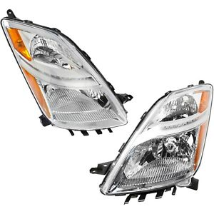 Headlight Set For 2006 2009 Toyota Prius Driver And Passenger Side