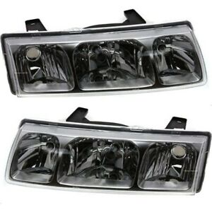 Headlight Set For 2002 2003 2004 Saturn Vue Left And Right With Bulb 2pc