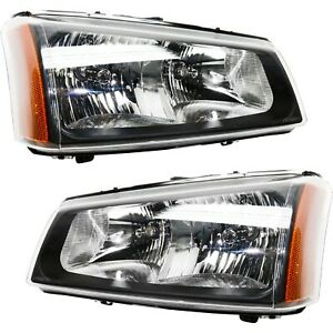 Headlight Set For 2003 2006 Chevy Silverado 1500 Silverado 3500 Left Right 2pc