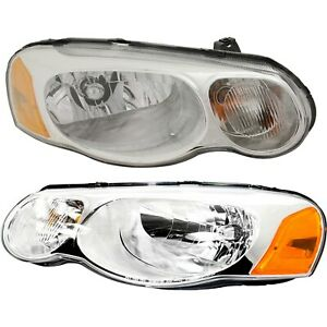 Headlight Set For 2004 2005 2006 Chrysler Sebring Left And Right With Bulb 2pc