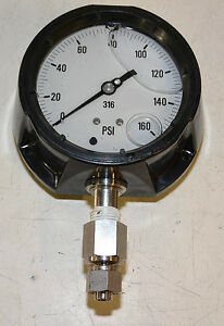 Liquid Filled Pressure Gage 160 Psi 4 Face 316 Ss 1 2 Npt