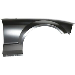 Fender For 2005 2009 Ford Mustang Front Right Primed Steel With Molding Holes