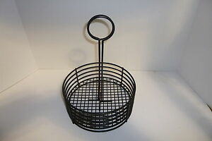Tabletop Condiment Caddy With Sign Holder Black Brand New