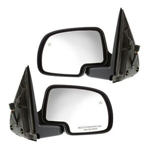 Mirror Set For 99 06 Chevrolet Silverado 1500 Power Primed Manual Folding Heated