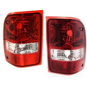 2006 2011 Ford Ranger Red Clear Tail Lights Replacement Lamps Left And Right