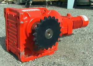 Right Angle Gear Motor 75 Hp 1430 1 Ratio 1 2 Rpm Jeamar Winches M n Gm k 97 7