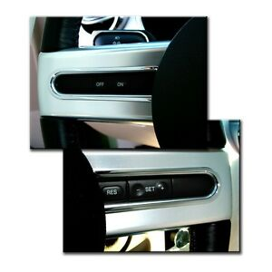 2005 2009 Mustang Chrome Billet Aluminum Steering Button Highlights Pair