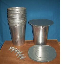 6 Maple Syrup Aluminum Sap Buckets 6 Lids Covers 6 Taps Spiles Spouts Great