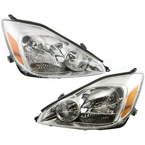 Headlights Headlamps Left Right Pair Set New For 04 05 Toyota Sienna