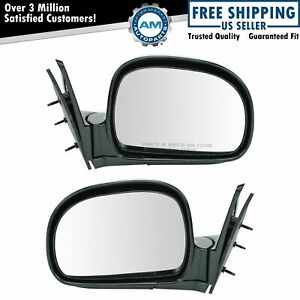 Manual Side View Mirrors Left Right Pair Set For Blazer Jimmy S10 Pickup Truck