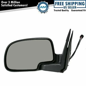 Power Heated Side Mirror W Puddle Light Textured Driver Left Lh For Chevy Gmc
