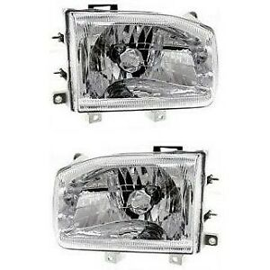 Headlight Set For 99 2004 Nissan Pathfinder Left And Right With Bulb 2pc