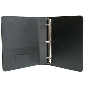 Royce Leather 1 5 Inch Ring Binder Premium Bonded Leather Black