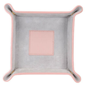 Royce Catchall Top Grain Nappa Leather Pig Suede Lining Pink Grey Suede