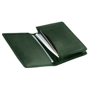 Royce Leather Deluxe Business Card Case Top Grain Nappa Leather Green