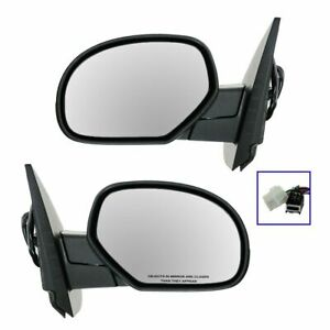 Side View Mirrors Power Heated Chrome Folding Memory Pair Set For Chevy Gmc