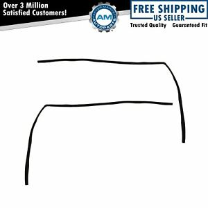 Glass Run Channel Window Weatherstrip Seals Front Pair Kit For Ford Van E Series