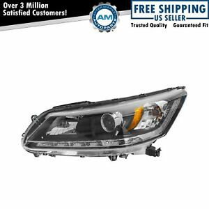 Headlight Headlamp Halogen Left Lh Driver Side For 13 14 Honda Accord Ex L V6