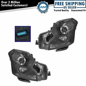 Headlights Headlamps Hid Xenon Left Right Pair Set For 03 07 Cadillac Cts