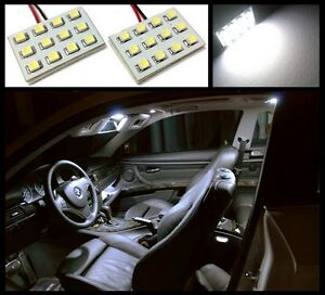 2 Ultra White 12 Led Interior Dome Map Light Smd Panels Xenon Bulbs Hid A1
