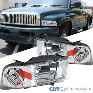 For 94 01 Dodge Ram 1500 2500 3500 Pickup Led Headlights Signal Lamps Left right