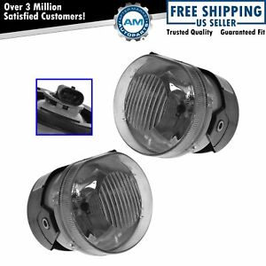 Fog Driving Lights Lamps Driver Passenger Pair Set Kit For 02 04 Jeep Liberty