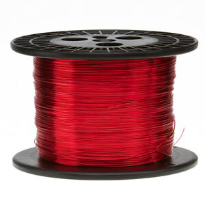 18 Awg Gauge Enameled Copper Magnet Wire 5 0 Lbs 1006 Length 0 0415 155c Red