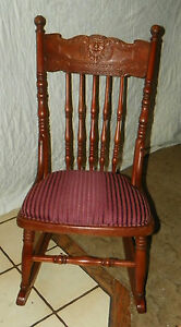 Small Cherry Carved Sewing Rocker Rocking Chair Child S Rocker R167